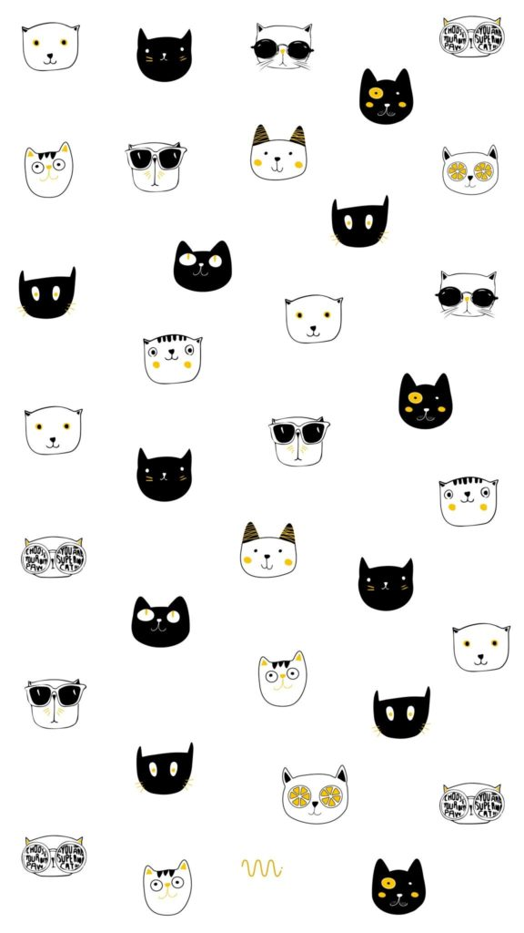 Iphone Wallpapers Wallpaper Background Cats Cat Kitten Lockscreen Iphone White Black Art Drawing Community Explore Discover The Best And The Most Inspiring Art Drawings Ideas